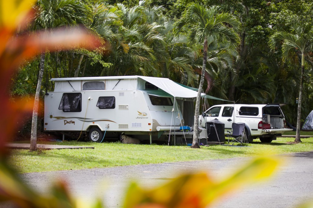 Caravan Site Lake Placid Tourist Park Cairns 1